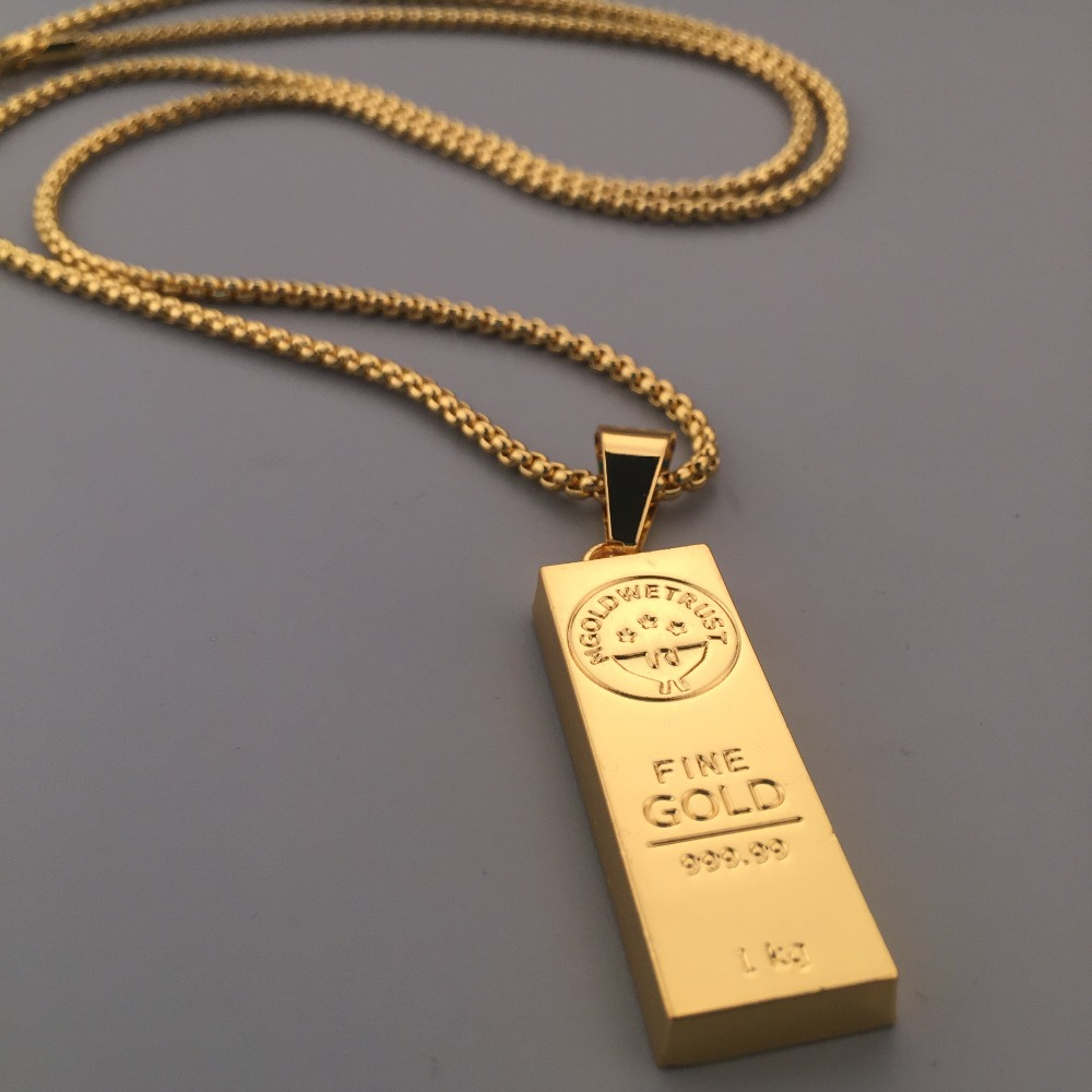 aliexpress buy iced out 18k gold plated bar shape