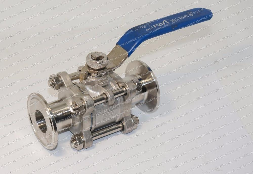 Ball valve sunitary separable SS 304 diameter 1 25mm OD50 5