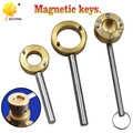 Messing magnetische schloss tor ventil armaturen runde schlüssel wasser meter vorder ventil tap ventil schlüssel schlüssel