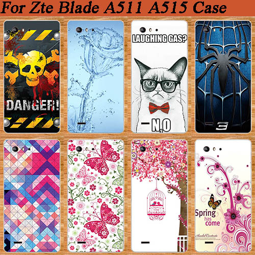 For ZTE Blade A515 A 515 Phone Case,High Quality Fashion design DIY PainitIng SOFT TPU Colored back Cover Case For ZTE A515 image