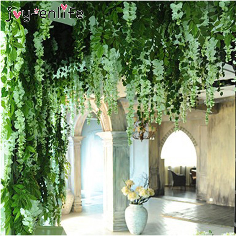 JOY ENLIFE 10pcs/lot 90cm Artificial Ivy Leaves Flower