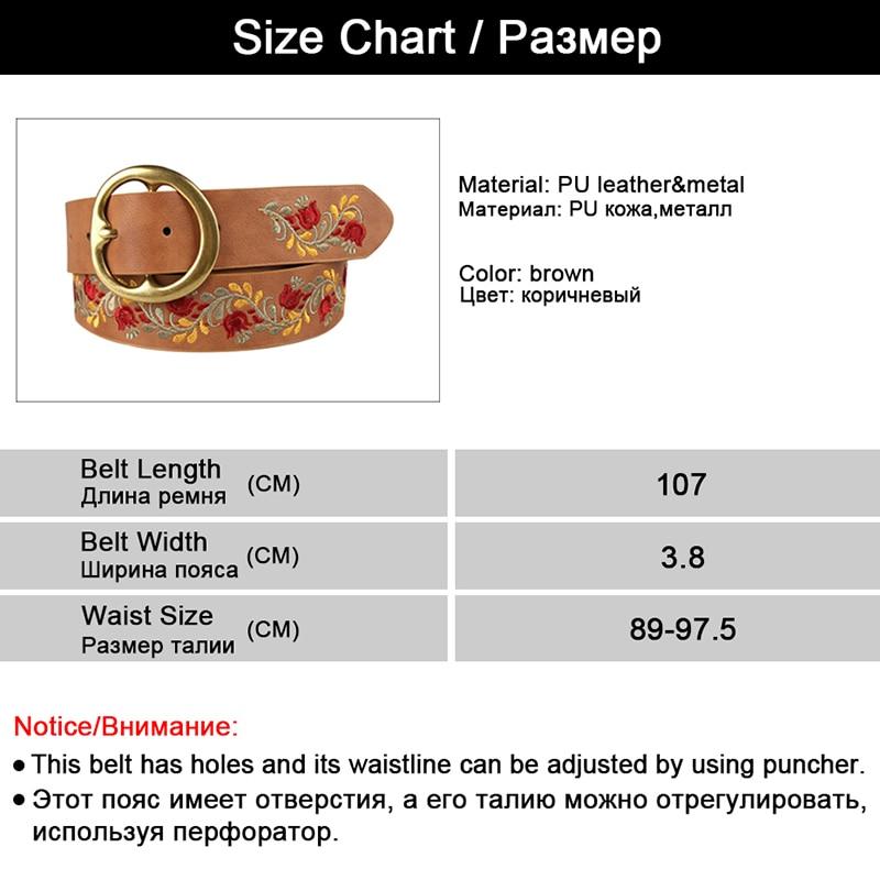 Aliexpress  Buy New Flower Leather Belts for Women Belt Obi