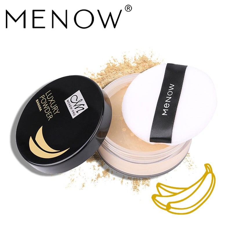 Menow Marca de Banana Em Pó Rosto de Controle de Óleo de Pó Solto, à prova d água de Controle de Óleo Maquiagem Maquiagem Em Pó Cosméticos F16007