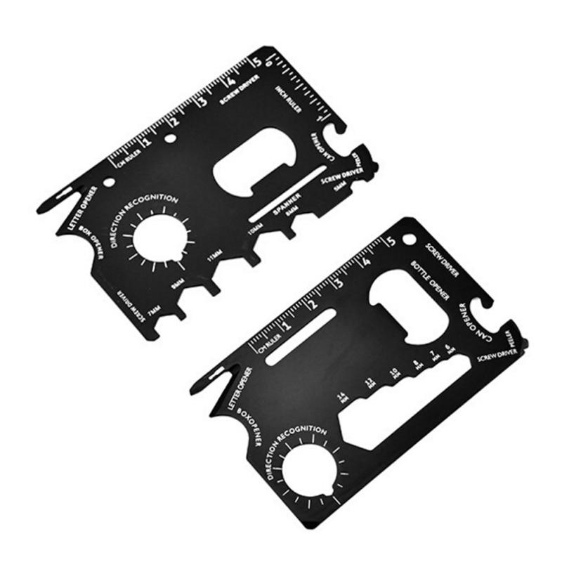 Pocket Tool Multifunction Knife Edc Outdoor Bottle Survive Gear Card Multi Multipurpose Gadget Camp Opener Wallet Kit11