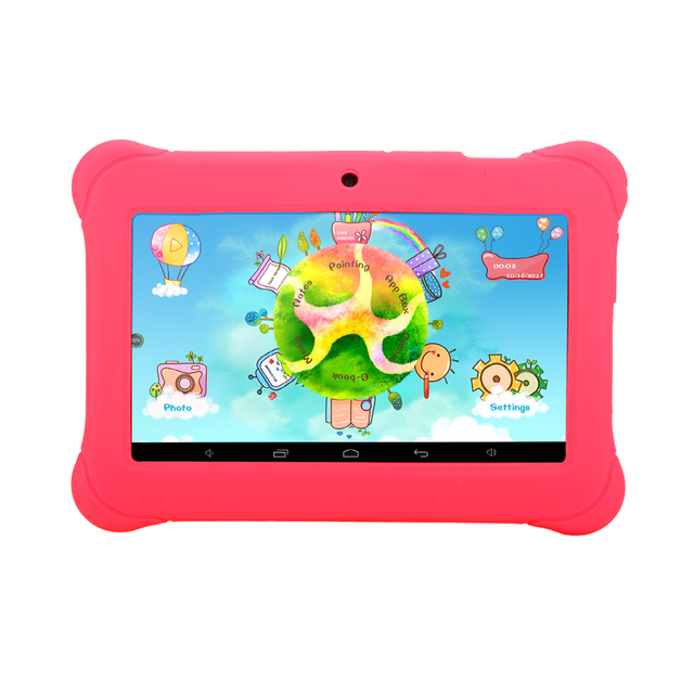 iRULU BabyPad Y1 7» Tablet PC Kids Children Tablet Android 4.4 Quad Core Dual Cam Google 1G RAM 8G ROM Free Silicone Case