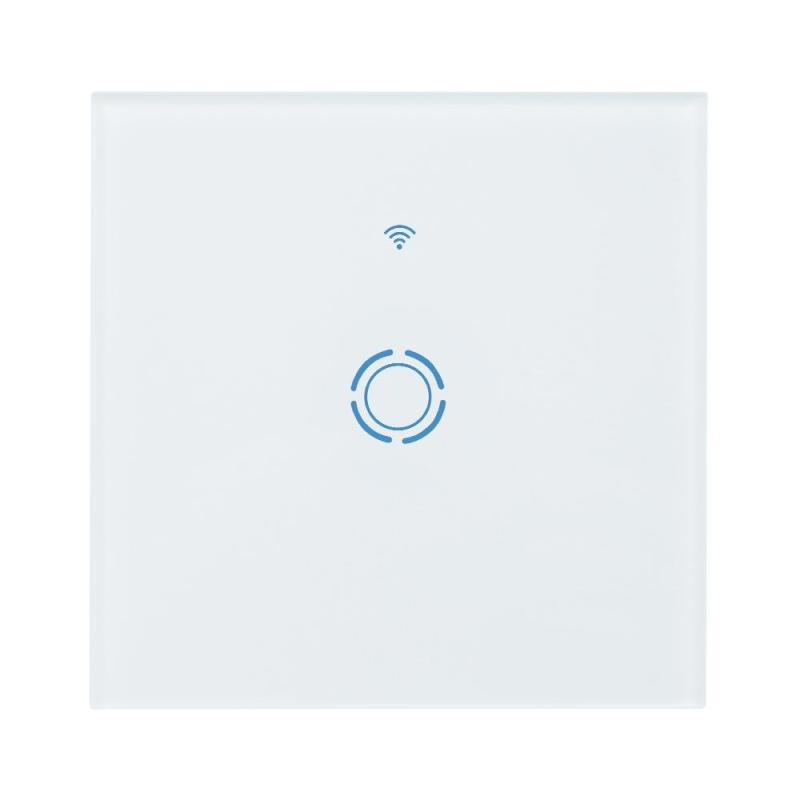 WIFI 1 Gang Amazon Alexa Timing Touch Panel Remote APP Control Smart Function Switch 1 gang 1 way smart light remote control touch switch panel for wifi amazon alexa good looks luxury crystal glass panel