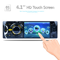 AZGIANT 4.1'' Car MP5 Player Bluetooth TFT Screen Stereo Audio FM Station Auto Video with Remote Control Equipped Rearview Cam