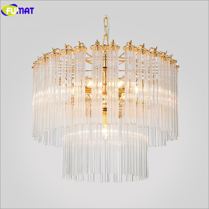 Moderne glazen hanglampen Korte goud + heldere eetkamer Slaapkamer - Binnenverlichting - Foto 3