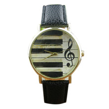 2016 Hot sale watch women Retra Music Character Leather Band Analog Quartz Vogue Wrist Watches relogios femininos Free Shipping