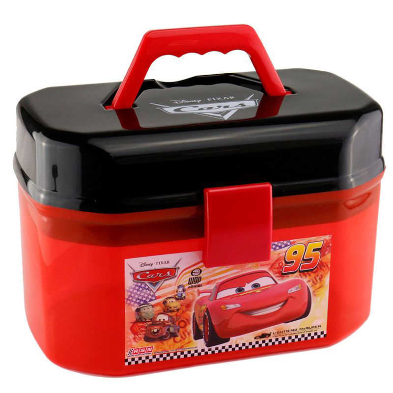 Disney Pixar Cars Toy Parking Lot Portable McQueen Storage Box (No Cars)  Kids Boy Xmas Gift Free Shipping