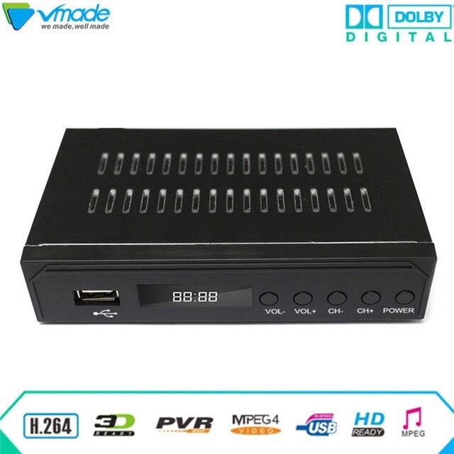 Vmade 2018 plus récent noir FULL HD numérique DVB ATSC F01 récepteur Satellite TV Tuner à recevoir MPEG4 Tuner décodeur lecteur multimédia
