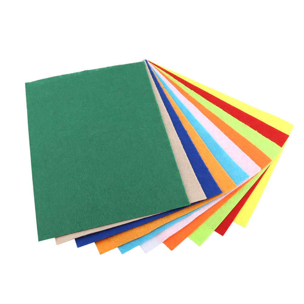 10 Pcs Non-Woven DIY Felt Cloth For Kindergarten Supplies  Apparel Sewing Dolls Crafts Decorations Mixed Color 30*20cm