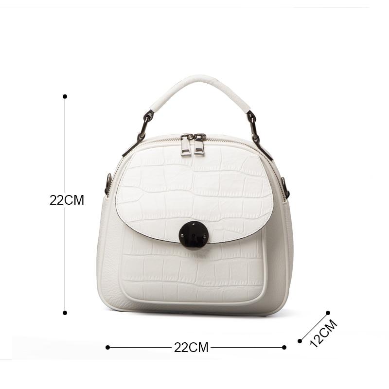 2019 nouveau luxe mode en cuir véritable femmes sac à dos nouveau sauvage femme sac à bandoulière blanc en cuir de vachette dames petits sacs à dos - 5