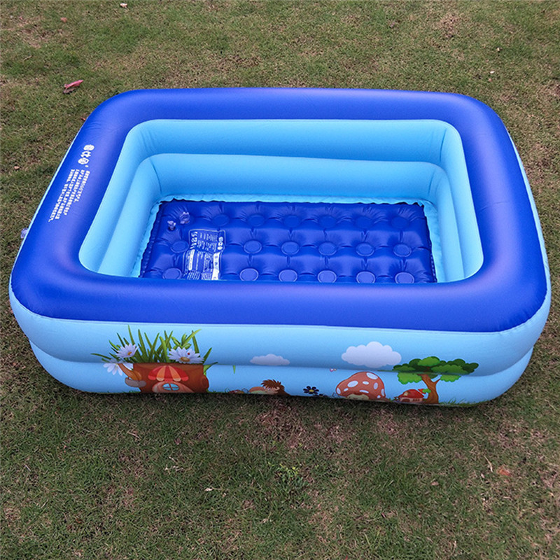 Summer Outdoor Baby Cartoon Swimming Pool Inflatable Square Family Children Thickened Playing Water Pool Kids Holiday Gifts p40 inflatable biggors combo slide and pool outdoor inflatable pool slide for kids playing