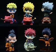 Anime Naruto 6PCS/SET Shippuden The Last Gaara Naruto Sasuke Minato Zara Kakashi PVC Action Figures Collectible Model Toys