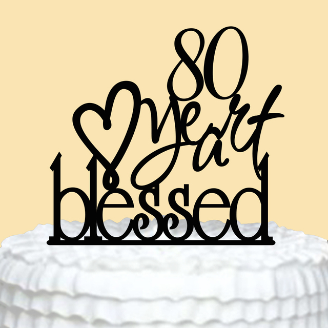 Personalized 80th Birthday Cake Topper Happy Birthday Cake Topper