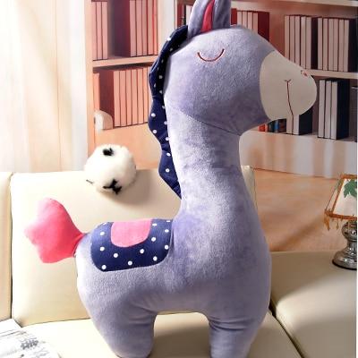 Véritable courrier grand animal poney âne herbe-boue cheval oreiller de couchage poupée jouets en peluche cadeaux de noël