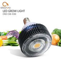 Удара светодио дный светать полный спектр CREE CXB3590 100 Вт 12000LM 3500 К заменить гэс 200 Вт растет лампы Indoor светодио дный освещения роста растений
