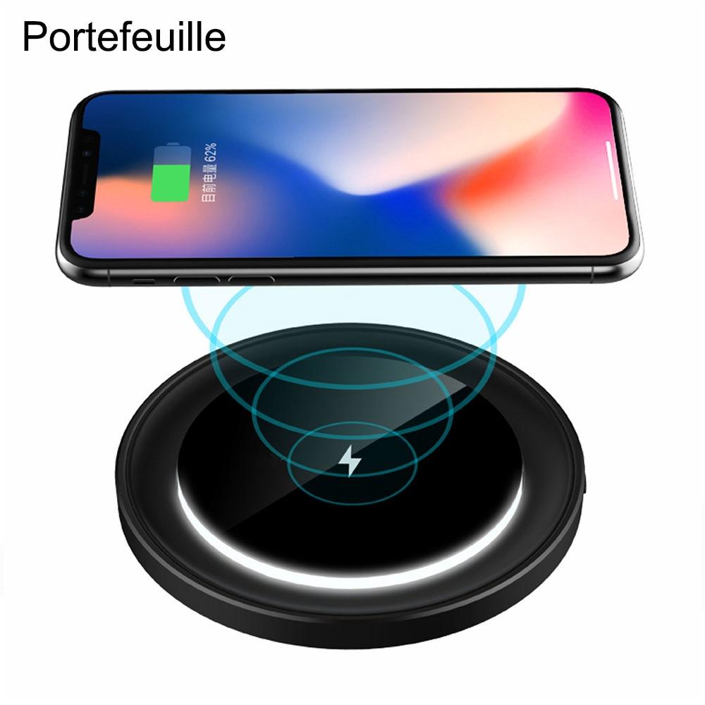 Drahtlosen Schnellen Ladegerät Für Iphone X Samsung Galaxy Note 8 S8 S7 S6 Plus Qi Wireless Schnellladung Handy Ladung Handy-zubehör