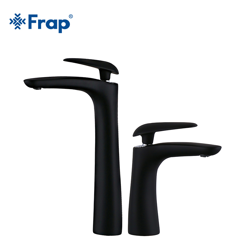 Frap New Arrival White balck Spray Painting bath sink faucet Bathroom cold and hot water tap