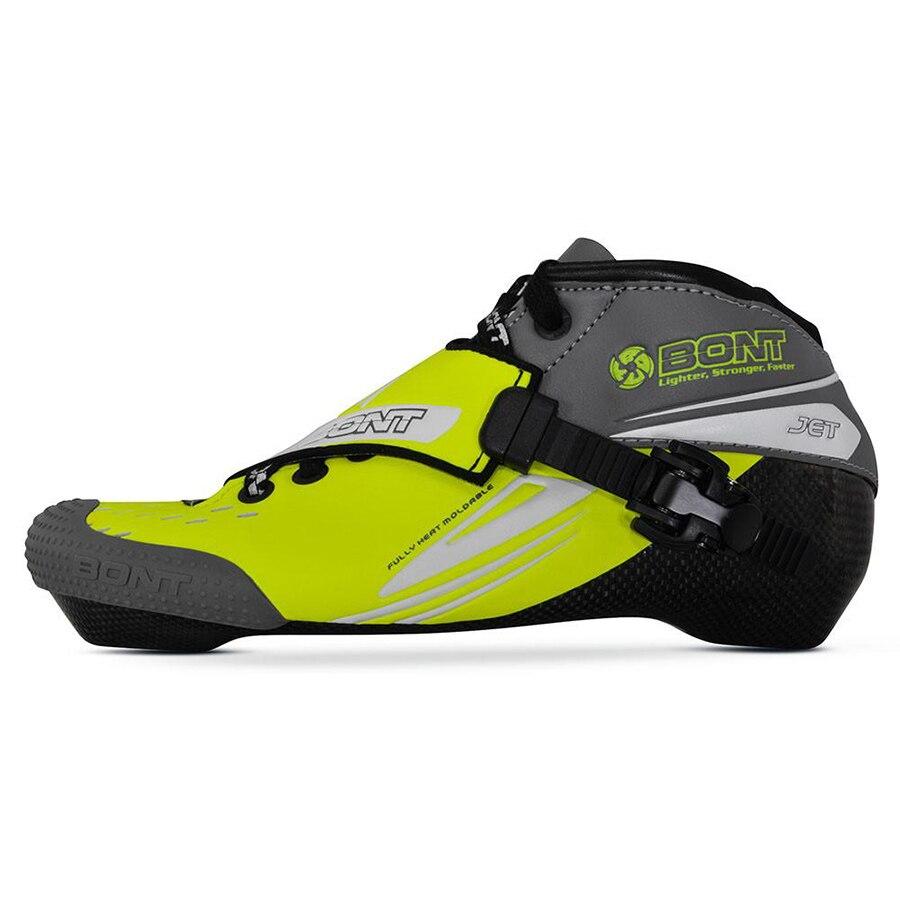 100% Original Bont Jet 2PT 195mm velocidad en línea Skate Heatmoldable fibra de carbono arranque competitetion Racing bota patinaje Patines zapatos