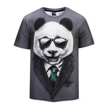 Waidx Panda sunglasses Cute T-shirt Men Nebula Top 3D Print