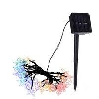 1 ADET 30 Leds Güneş Enerjisi Açık Bahçe Noel Partisi Için Aydınlatma Strings Su Geçirmez Kelebekler Lamba Dekorasyon Işıkları -- M25