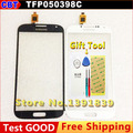 New TFP050398C 5J21 Touch Screen China Made I9500 S4 SmartPhone Glass Panel White / Blue +Tool + Free shipping + tracking code