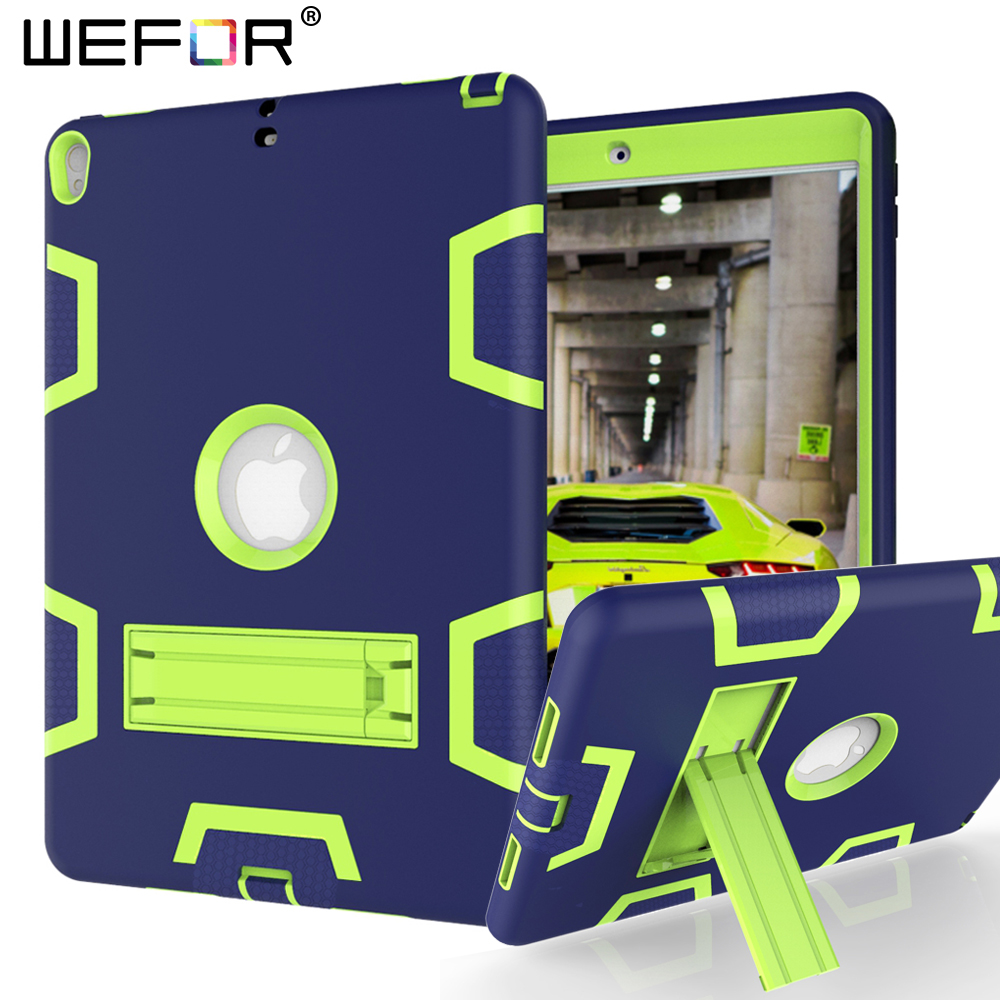 For iPad Pro 10.5 Case A1701/A1709,High Impact Resistant Hybrid 3 Layers Cover Heavy Duty Defender 360 Full Body Protect Cases case for apple ipad pro plus 12 9 tablet heavy duty rugged impact hybrid case kickstand protective cover for ipad pro 12 9