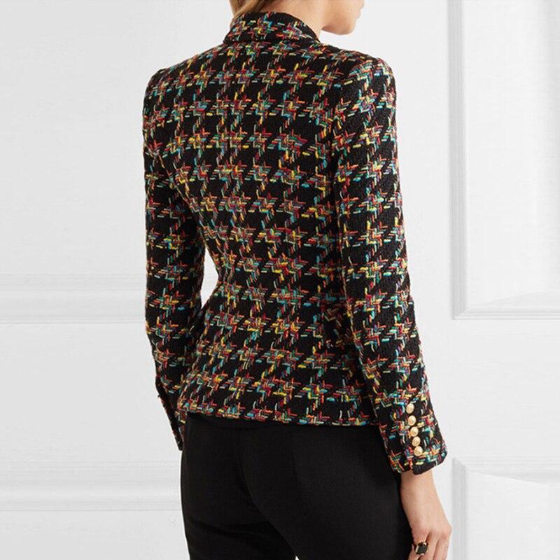 Lady Double Manches Color Automne Survêtement Tweed Blazers Veste Designer Blazer Piste Boutonnage Manteaux Femmes Casaco Picture Nouvelle Longues Poule À 7HqzwxOpF6