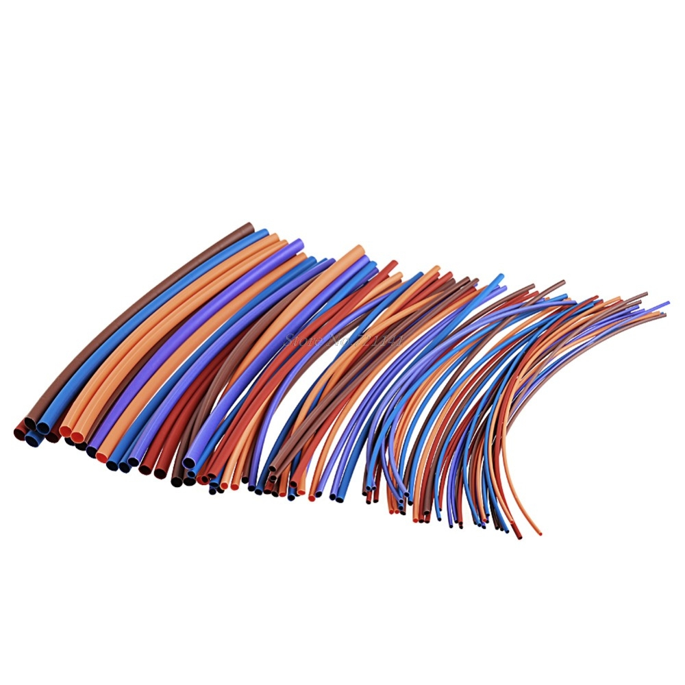 80 Pcs Polyolefins 16 M Heat Sleeve Tube Heat Shrink Tubing Cable Wire Wrap Insulation Materials Elements Dropship