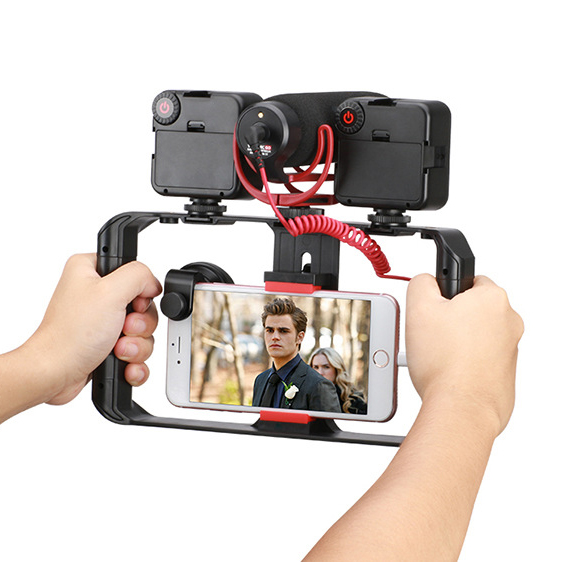Universal Mobile Phone Handheld Camera Bracket  Video Shooting Live Rabbit Cage Phone Stabilizer Follow Shot For IPhoneX Xs Xr