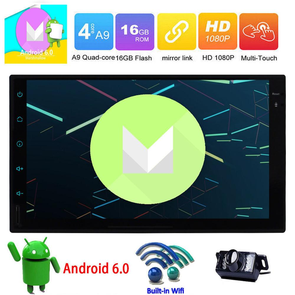 Android 2 Din Car Stereo Capacitive Bluetooth GPS Touch Screen NO DVD Radio CAM