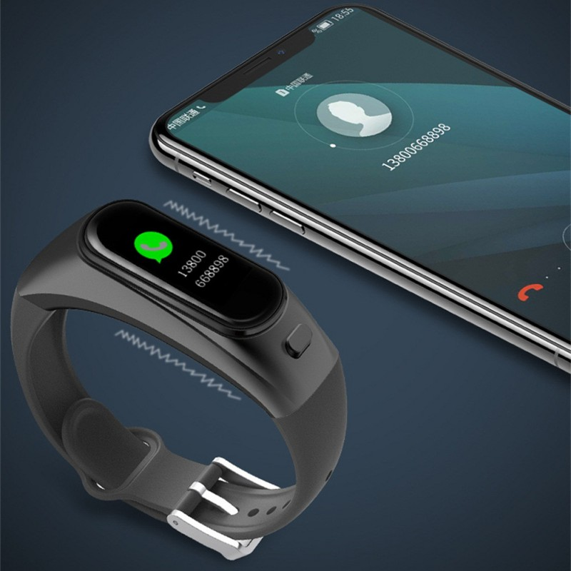Bluetooth couleur casque parler bande intelligente Bracelet moniteur de fréquence cardiaque sport montre intelligente passomètre Fitness Tracker Bracelet - 3
