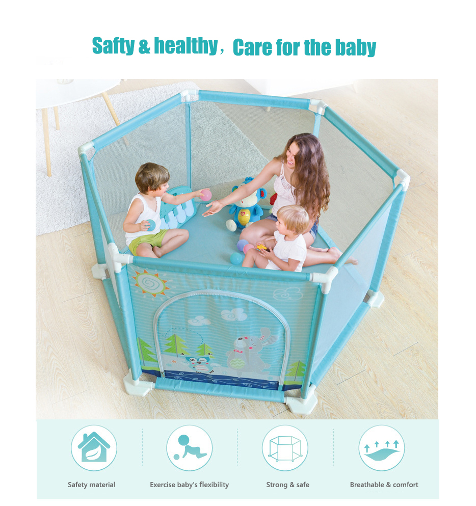 Plastic Baby Playpens With Net Material For 0 To 36 Months Children 1