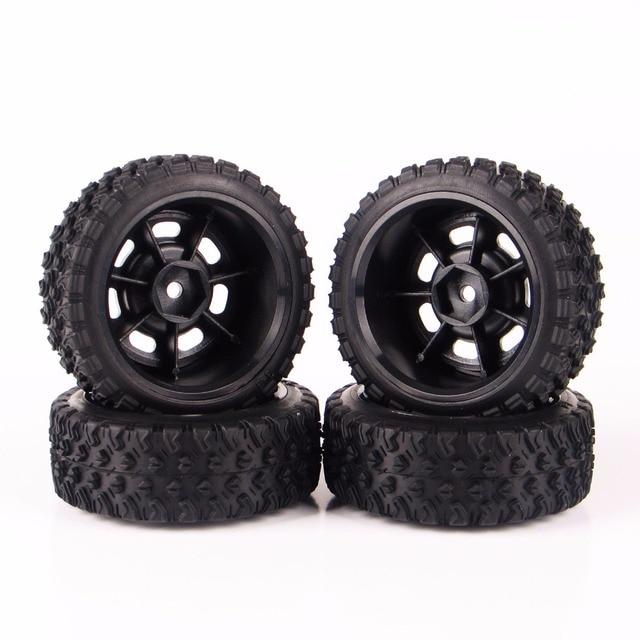 4PCS/set  12mm Hex 1:10 Rally Rubber Tires Wheel Rim 11083 For HSP HPI RC Car