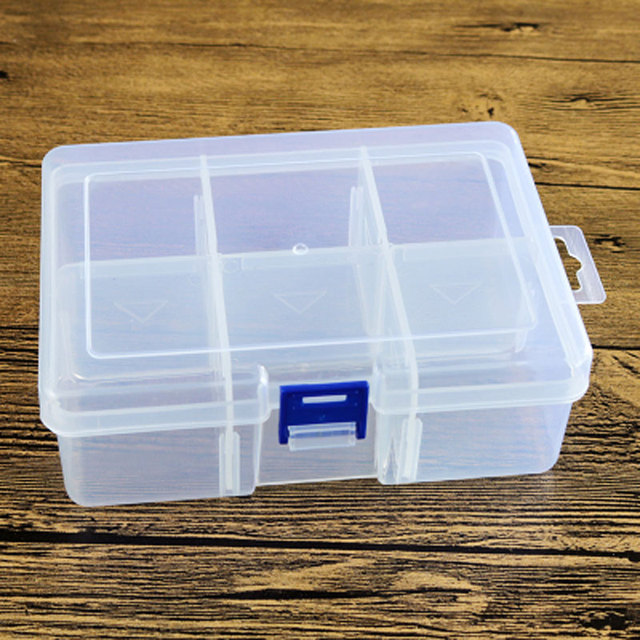 PP 6 Compartments Plastic Storage Box with Dividers in Storage Boxes