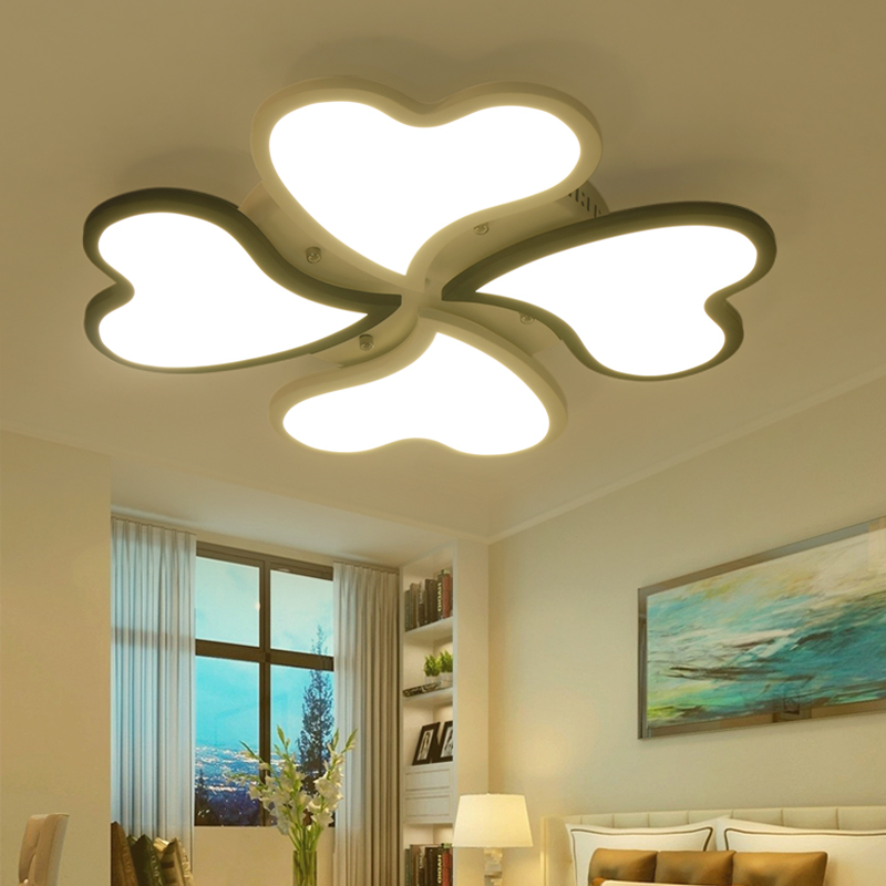 Remote Control Wireless Dimmable New Acrylic Modern Led Ceiling Chandelier  Lights For Bedroom AC85 265V