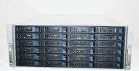 4U case with 24 hard disk position hot plug case rack type server case MINI SAS MINI SATA or SATA3 interface with fan