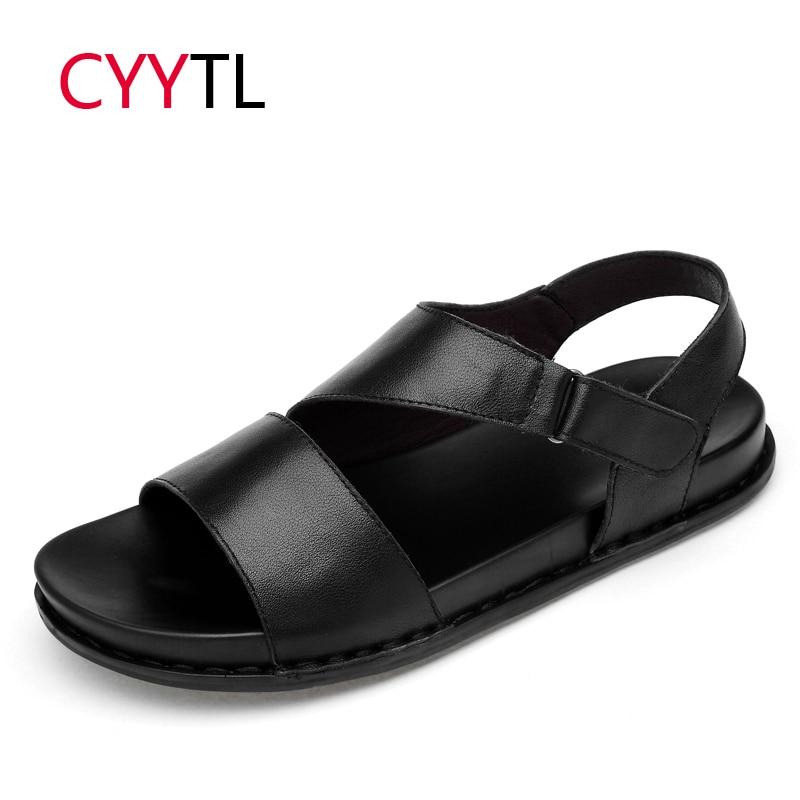 Impartial Cyytl Brand Leather Men Sandals 2019 Summer Shoes Roman Slippers Outdoor Male Sneakers Beach Flip Flops Water Sandalias Hombre Men's Sandals