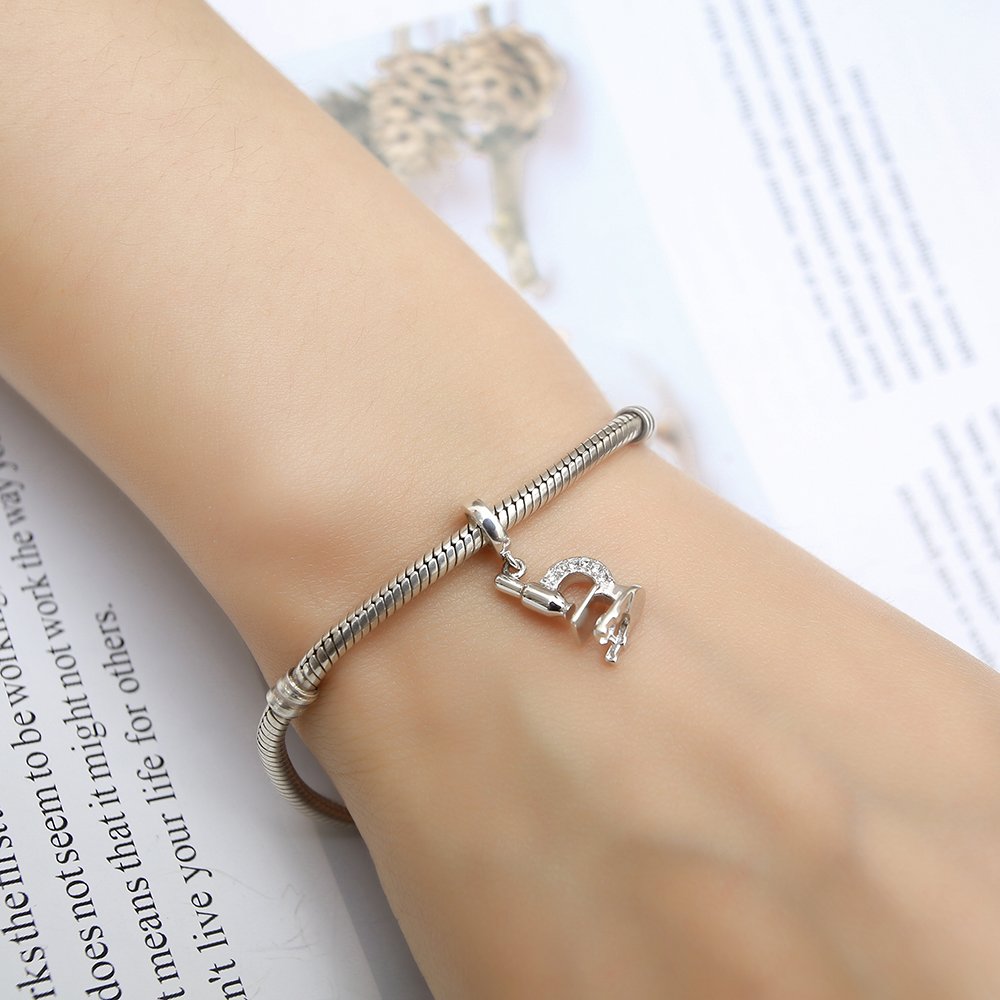 Telescope Pendant Beads Fits Pandora Charms Bracelets Original 925 Silver Charms plata de ley 925 Dropshipping Jewelry Mom Gift  (1)