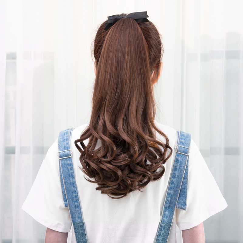 DIFEI Long Wavy Synthetic Ponytail Curly Style Pony Tail Hairpiece hairstyles Clip in Hair ...