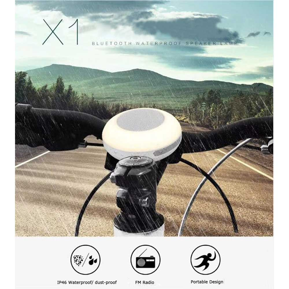 Новых автомобильных x1 <font><b>Bluetooth</b></font> беспроводной динамик ip46 Водонепроницаемый Портативный LED колонки Поддержка карты памяти (не включая) с fm Радио