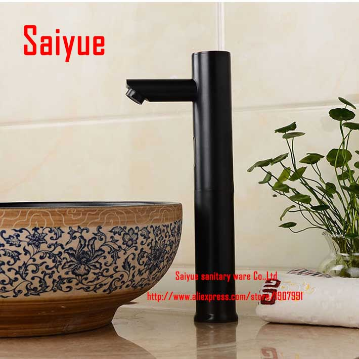 High Body ORB Touchless Infrared Sensor  Faucet  Decktop Washbasin Tap Automatic mixer Brass RobinetHigh Body ORB Touchless Infrared Sensor  Faucet  Decktop Washbasin Tap Automatic mixer Brass Robinet