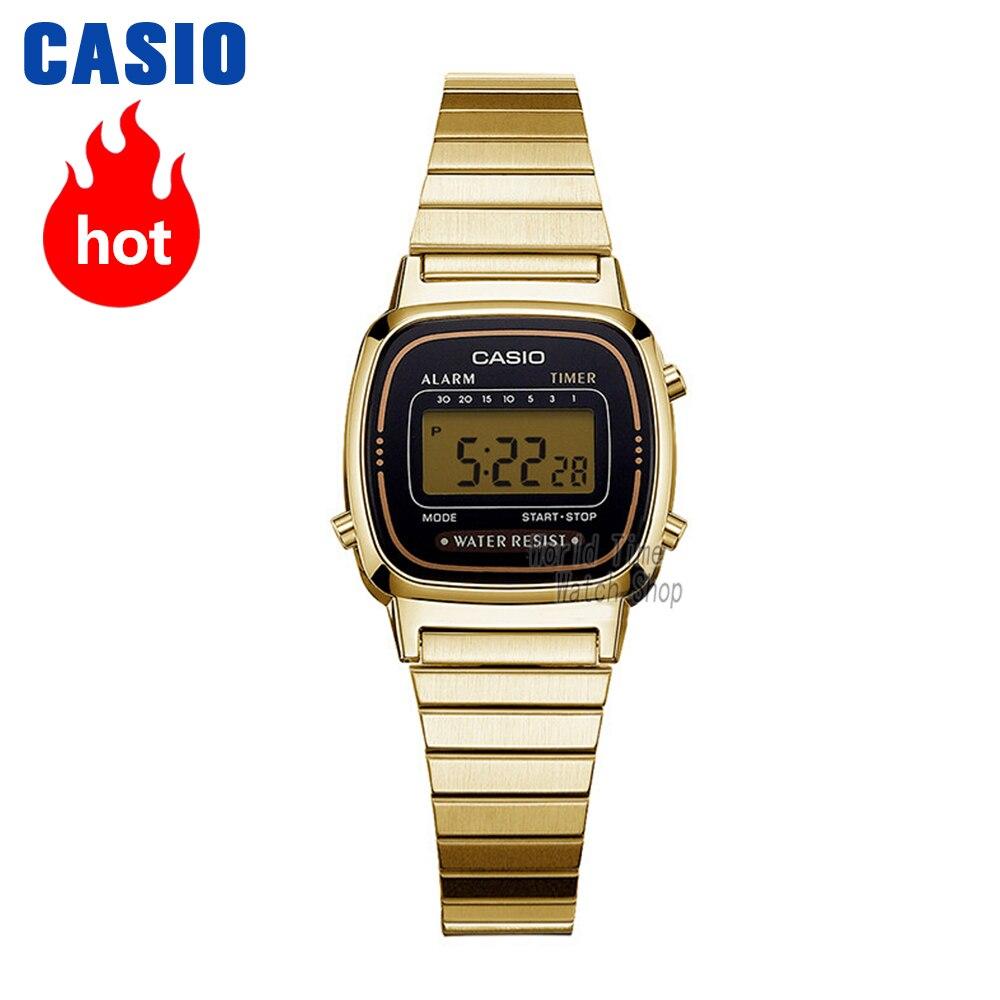 Casio watc ゴールド女性腕時計トップブランドの高級防水クォーツ時計女性LEDデジタルスポーツレディース腕時計 relogio feminino reloj mujer montre homme bayan kol saati zegarek damski LA680W  グループ上の 腕時計 からの レディース腕時計 の中 1