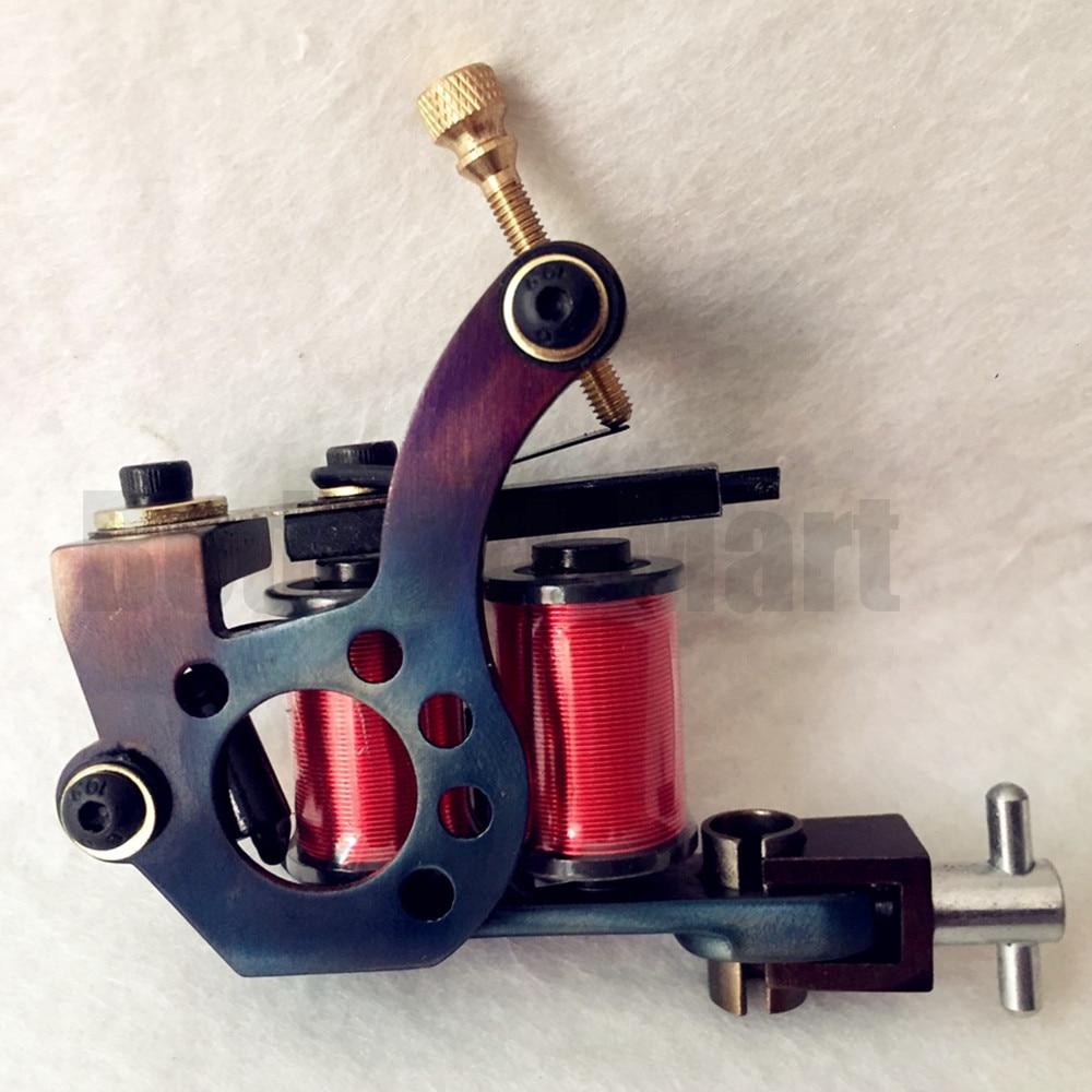 2017 Custom 8 Wrap Coil Liner Tattoo Machine Profession Carbon Steel Tattoo Gun For Tattoo Power Kit Set Supply HIM01-L#(China)