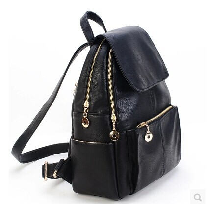 2014 new Korean women bag shoulder bag backpack black New England College  Wind schoolbags female ee452354b