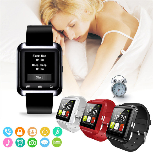 Reloj inteligente Bluetooth U8 para iPhone IOS Android reloj de vestir para teléfono inteligente dispositivo portátil PK GT08 DZ09