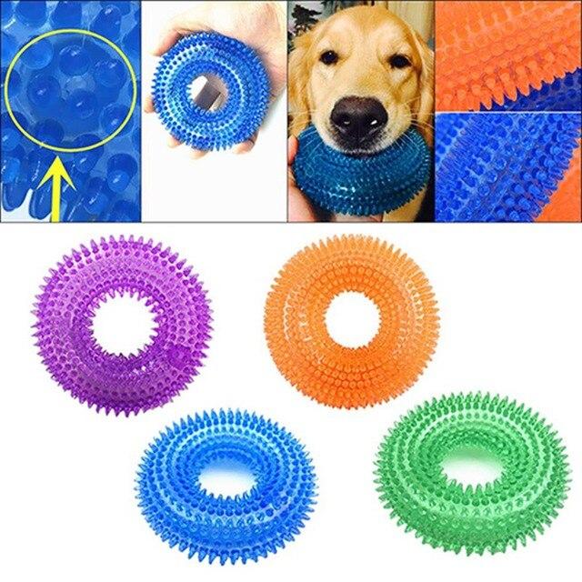 Pet Giocattolo Morso a Prova di Squeak Chew Palla Giocattolo Palla di Gomma Suono Per Cani di Grossa Taglia di Formazione Divertente di Gomma Pet Chew Grande giocattoli del cane