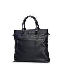 2016 New Classic Men's Genuine Leather Zip Casual Crossbody Bag Detachable Strap Shoulder Bag Versatile Top Handle Tote Handbag